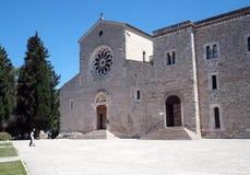 Abadía de Valvisciolo en Italia Foto de archivo