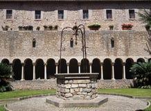 Abadía de Valvisciolo en Italia Imagenes de archivo