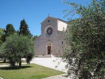 Abadía de Valvisciolo en Italia Imágenes de archivo libres de regalías