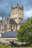 Abadía de Wells, Somerset, Inglaterra Foto de archivo libre de regalías