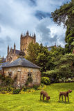 Abadía de Wells, Somerset, Inglaterra Imagen de archivo
