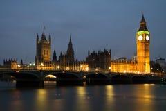 Abadía de Westminster con Big Ben, Londres Foto de archivo