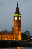 Abadía de Westminster con Big Ben, Londres Imagenes de archivo