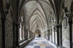 Abadía de Westminster de los claustros Imagenes de archivo
