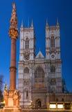 Abadía de Westminster durante crepúsculo Foto de archivo