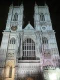 Abadía de Westminster en la noche Imagen de archivo libre de regalías