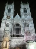 Abadía de Westminster en la noche Fotografía de archivo libre de regalías