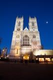 Abadía de Westminster en la noche, Londres Imagenes de archivo