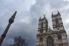 Abadía de Westminster en un día nublado Imagen de archivo libre de regalías