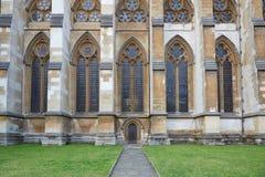 Abadía de Westminster, entrada lateral de la iglesia gótica en Londres Fotos de archivo libres de regalías
