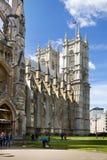 Abadía de Westminster, forma de la visión el parque Fotos de archivo libres de regalías