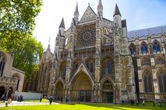 Abadía de Westminster, forma de la visión el parque Fotografía de archivo