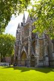 Abadía de Westminster, forma de la visión el parque Imágenes de archivo libres de regalías