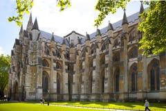 Abadía de Westminster, forma de la visión el parque Foto de archivo libre de regalías