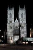 Abadía de Westminster iluminada por noche Imagen de archivo