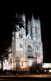 Abadía de Westminster, Londres, Inglaterra, en la noche Fotos de archivo