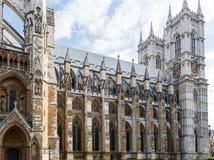 Abadía de Westminster, Londres, Inglaterra, opinión del perfil Imagen de archivo
