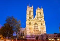Abadía de Westminster por la tarde - Londres Fotografía de archivo