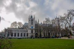 Abadía de Westminster por noche Foto de archivo libre de regalías