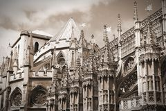 Abadía de Westminster retra Imagen de archivo libre de regalías