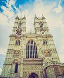 Abadía de Westminster retra de la mirada Foto de archivo libre de regalías