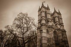 Abadía de Westminster tomada por oscuro Foto de archivo
