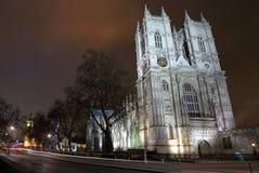Abadía de Westminster y Ben grande en Londres Foto de archivo libre de regalías