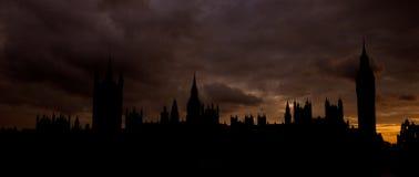 Abadía de Westminster y Ben grande en Londres Imágenes de archivo libres de regalías