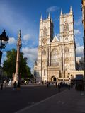 Abadía de Westminster y columna Londres Reino Unido Fotografía de archivo