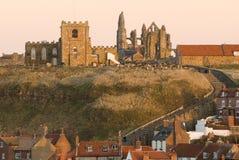 Abadía de Whitby e iglesia de Santa María Imagen de archivo libre de regalías