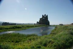 Abadía de Whitby, Yorkshire del norte, abadía benedictina Foto de archivo