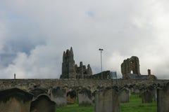 Abadía de Whitby, Yorkshire del norte, abadía benedictina Foto de archivo libre de regalías
