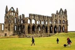 Abadía de Whitby, Yorkshire del norte, Inglaterra Imágenes de archivo libres de regalías