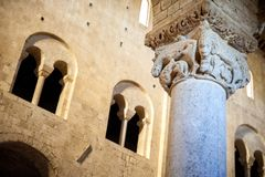 Abadía del ` Antimo de Sant en Montalcino Ornamento interior, particular Toscana, Italia Fotografía de archivo libre de regalías