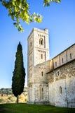 Abadía del ` Antimo de Sant en Montalcino, Toscana, Italia Foto de archivo