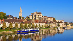 Abadía del ` Auxerre de St Germain d Fotografía de archivo libre de regalías