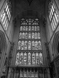 Abadía del baño en baño en blanco y negro Fotografía de archivo libre de regalías