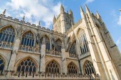 Abadía del baño en el sur al oeste de Inglaterra Imágenes de archivo libres de regalías