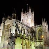 Abadía del baño en la noche Fotografía de archivo