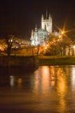 Abadía del baño en la noche Imagenes de archivo