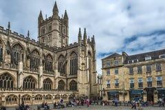Abadía del baño, Somerset, Inglaterra Foto de archivo libre de regalías