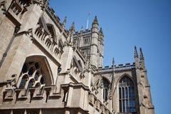 Abadía del baño una señal famosa en la ciudad del baño en Somerset England Imagen de archivo