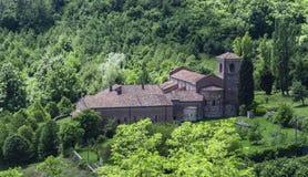 Abadía del lado trasero de Vezzolano Fotografía de archivo libre de regalías