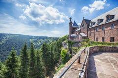 Abadía del Mont Sainte-Odile en Alsacia, Francia Foto de archivo