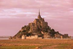 Abadía del Saint Michel de Mont Fotos de archivo