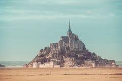 Abadía del Saint Michel de Mont Foto de archivo libre de regalías