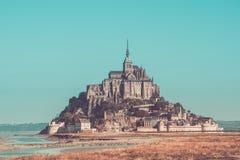 Abadía del Saint Michel de Mont Fotografía de archivo libre de regalías
