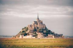 Abadía del Saint Michel de Mont Fotos de archivo libres de regalías