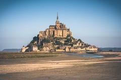 Abadía del Saint Michel de Mont Imágenes de archivo libres de regalías