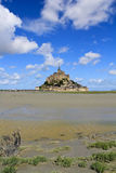 Abadía del Saint Michel de Mont Imagen de archivo libre de regalías